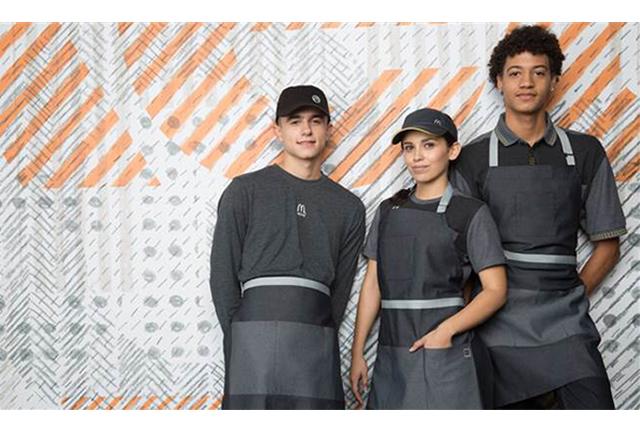 가게를 대표하는 얼굴, 맥도날드의 새로운 유니폼 디자인